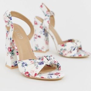 ASOS floral chunky heel